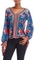 Flying Tomato Floral V-Neck Blouse