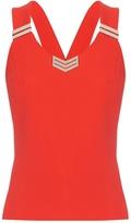 Thierry Mugler Cross-back stretch-cady top