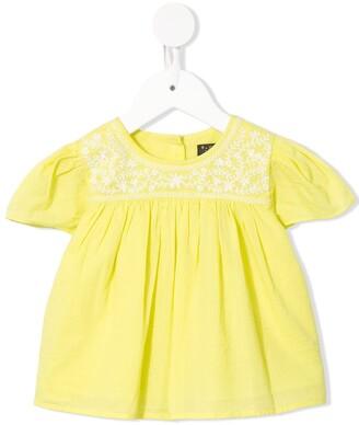 Velveteen Juniper embroidered floral blouse