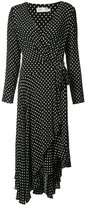 Zimmermann polka dot wrap dress - women - Viscose - 2