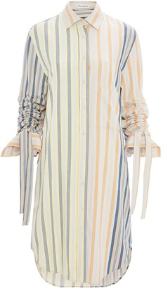 J.W.Anderson Gathered Sleeve Shirt Dress