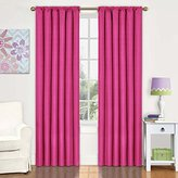 Eclipse Curtains Eclipse Kids Kendall Blackout Thermal Curtain Panel,Raspberry,84-Inch