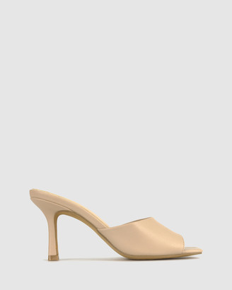 betts Women's Nude Heeled Sandals - Cece Stiletto Heel Mules - Size One Size, 5 at The Iconic