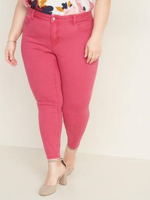 Old Navy High-Waisted Plus-Size Secret-Slim Pop-Color Rockstar Jeans