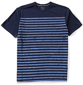 Roundtree & Yorke Casuals Short Sleeve Horizontal-Striped Crewneck Tee