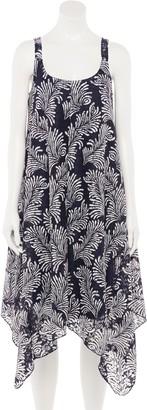 Nina Leonard Women's Floral Handkerchief-Hem Dress