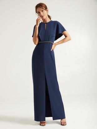 Halston Embellished Insert Gown