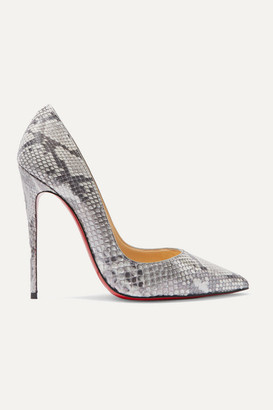 Christian Louboutin So Kate 120 Metallic Python Pumps - Snake print