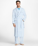 Brooks Brothers Large Plaid Robe