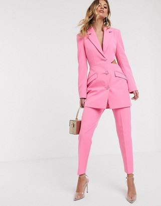Asos Design DESIGN slim fancy suit pants-Pink