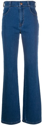 See by Chloe high-waisted bootcut jeans