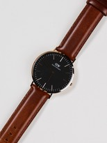 Daniel Wellington St Mawes Classic 40m Watch in Rose Gold & Brown