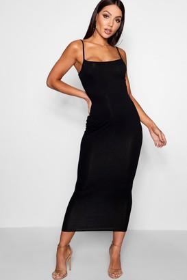 boohoo Jersey Square Neck Midaxi Dress