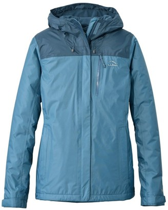 L.L. Bean Women's Trail Model Rain Jacket, Fleece-Lined, Colorblock