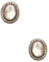 Artisan 18K Gold & 1.03 Total Ct. Rosecut Diamond Stud Earrings