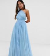 Asos DESIGN Petite Tulle One Shoulder Maxi Dress