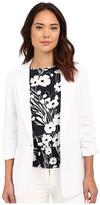 MICHAEL Michael Kors Linen Shirred Boyfriend Jacket