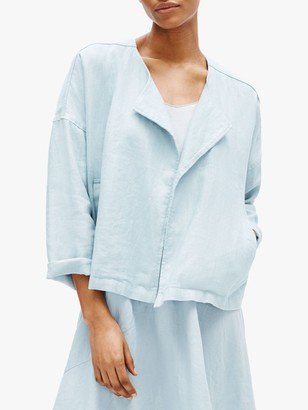 Eileen Fisher Organic Linen Drape Jacket, Dawn