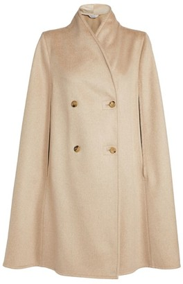 Max Mara Double-Breasted Wool-Blend Cape
