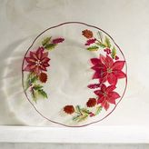 Pier 1 Imports Poinsettia Painted Glass Salad Plate
