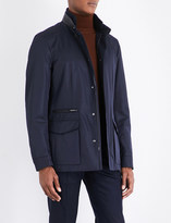 Brioni Leather-trimmed field jacket