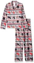 Komar Kids Big Boys' Wild Fairisle Coatstyle Pajama Set