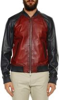 DSQUARED2 Contrasted Leather Bomber Jacket