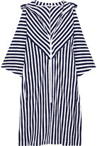 Araks Margot Striped Cotton-terry Coverup - Midnight blue