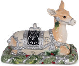 Fitz & Floyd Bristol Holiday Deer Covered Butter Dish