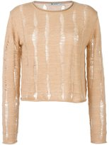 Alexander Wang distressed jumper - women - Merino - M
