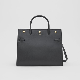 Burberry Medium Leather Two-handle Title Bag