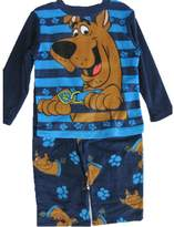 Scooby-Doo Little Boys Blue Cartoon Character Printed 2 Pc Pajama Set
