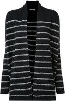 Vince striped cardi-coat - women - Wool/Polyimide - XS