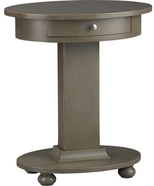 Crate & Barrel Sorano Oval Nightstand.
