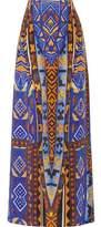 Camilla Layered Printed Silk-Chiffon Maxi Skirt