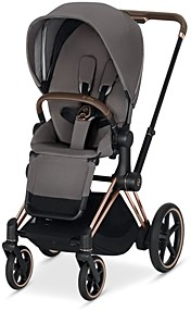 CYBEX ePriam Electronic Assist Stroller with Rose Gold Frame