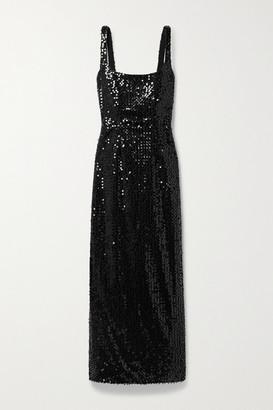 Emilia Wickstead Bassett Sequined Tulle Dress - Black