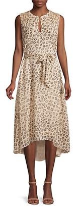 Joie Corrin Silk Print High-Low Dress
