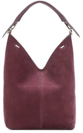 Anya Hindmarch The Bucket Circle suede shoulder bag
