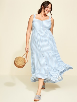 Old Navy Striped Tiered Plus-Size Maxi Sundress