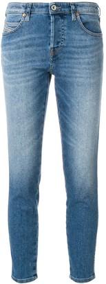 Diesel distressed cropped skinny jeans