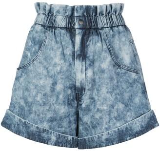 Etoile Isabel Marant Itea Paperbag denim shorts