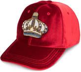 Versace velvet crown baseball cap