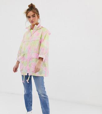 Asos DESIGN petite pac a mac rain jacket in animal print-Multi