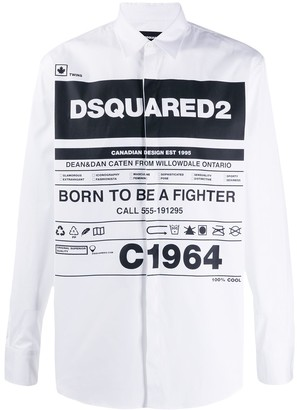 DSQUARED2 long-sleeve printed shirt