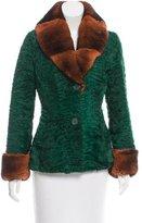 Etro Fur-Trimmed Persian Lamb Jacket