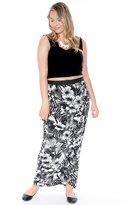 Grayson Shop Plus Size Aloha Print Wrap Maxi Skirt