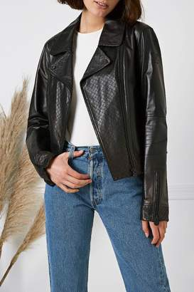 Chanel Black Leather Moto Jacket
