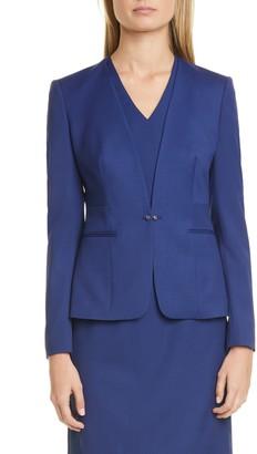 HUGO BOSS Jaflinka Stretch Wool Suit Jacket