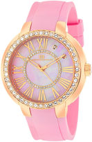 Oceanaut Womens Allure Faux Pearl Pink Strap Watch